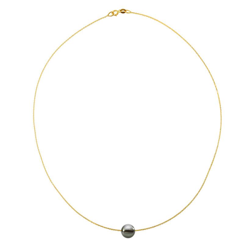 Κολιέ με μαργαριτάρι σε χρυσή αλυσίδα Κ14 - M981026