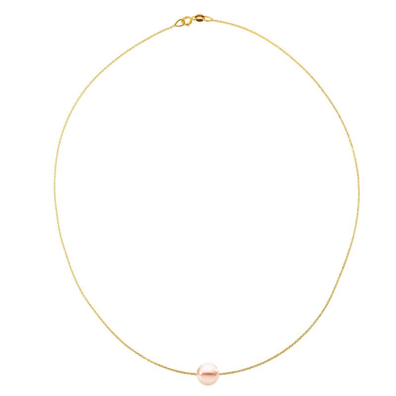 Κολιέ με μαργαριτάρι σε χρυσή αλυσίδα Κ14 - M981027