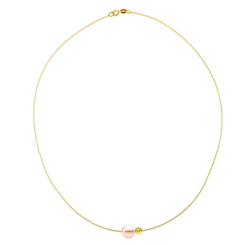 Κολιέ με μαργαριτάρι σε χρυσή αλυσίδα Κ14 - M981032