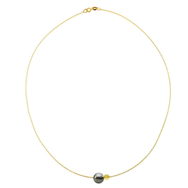 Κολιέ με μαργαριτάρι σε χρυσή αλυσίδα Κ14 - M981033