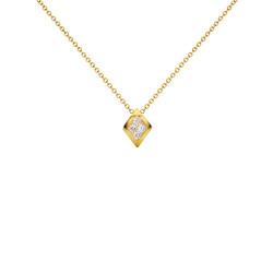 Μενταγιόν Κ18 χρυσό με διαμάντια- G123505