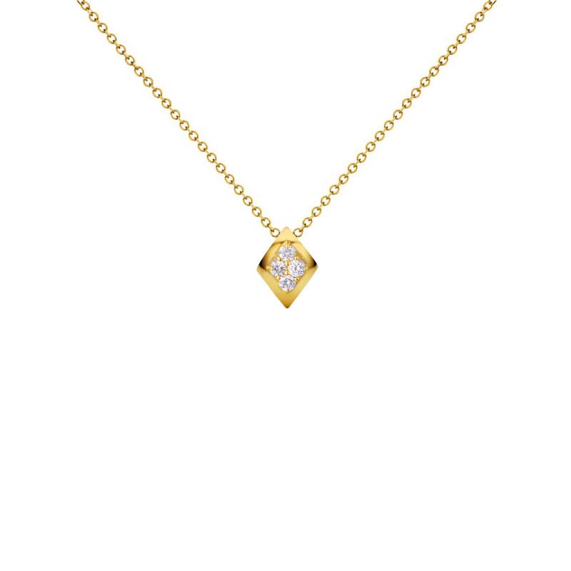 Μενταγιόν με διαμάντια σε χρυσό Κ18 - G123505