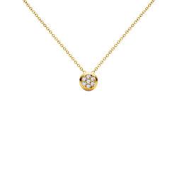 Μενταγιόν Κ18 χρυσό με διαμάντια - G123504