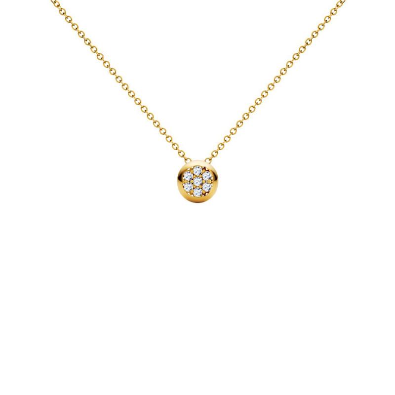 Μενταγιόν με διαμάντια σε χρυσό Κ18 - G123504