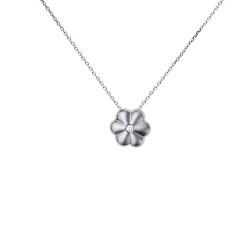Μενταγιόν Κ18 λευκόχρυσο με διαμάντια - M123867