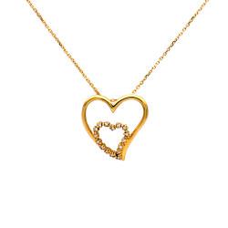 Μενταγιόν Κ18 χρυσό με διαμάντια - M315721