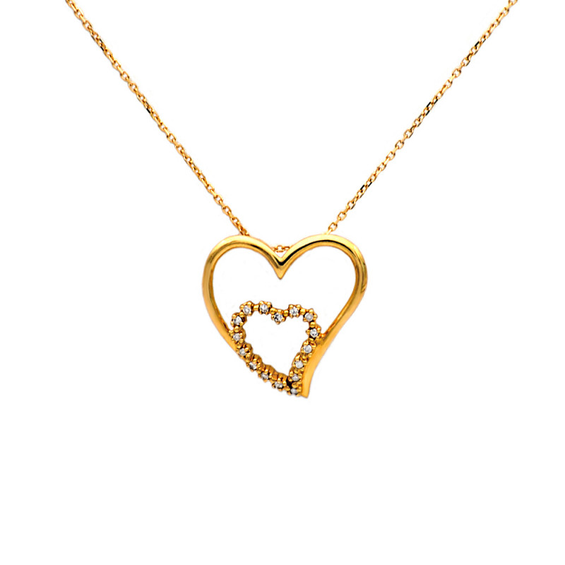 Μενταγιόν με διαμάντια σε χρυσό Κ18 - M315721