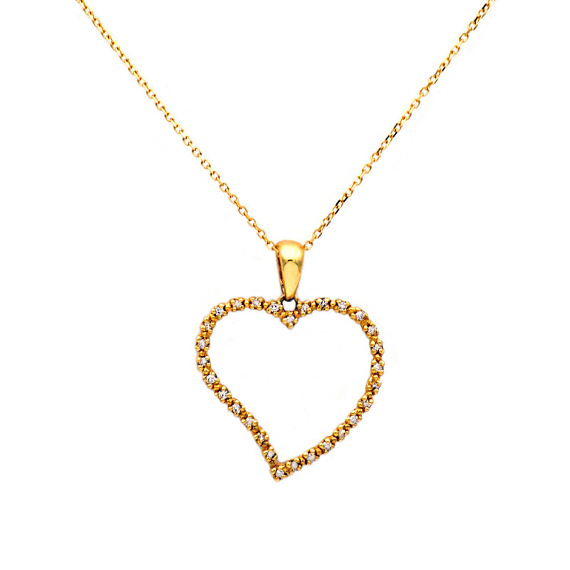 Μενταγιόν με διαμάντια σε χρυσό Κ18 - M315722