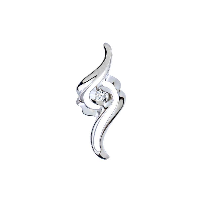 Μενταγιόν με διαμάντι σε λευκόχρυση βάση Κ18 - M718038