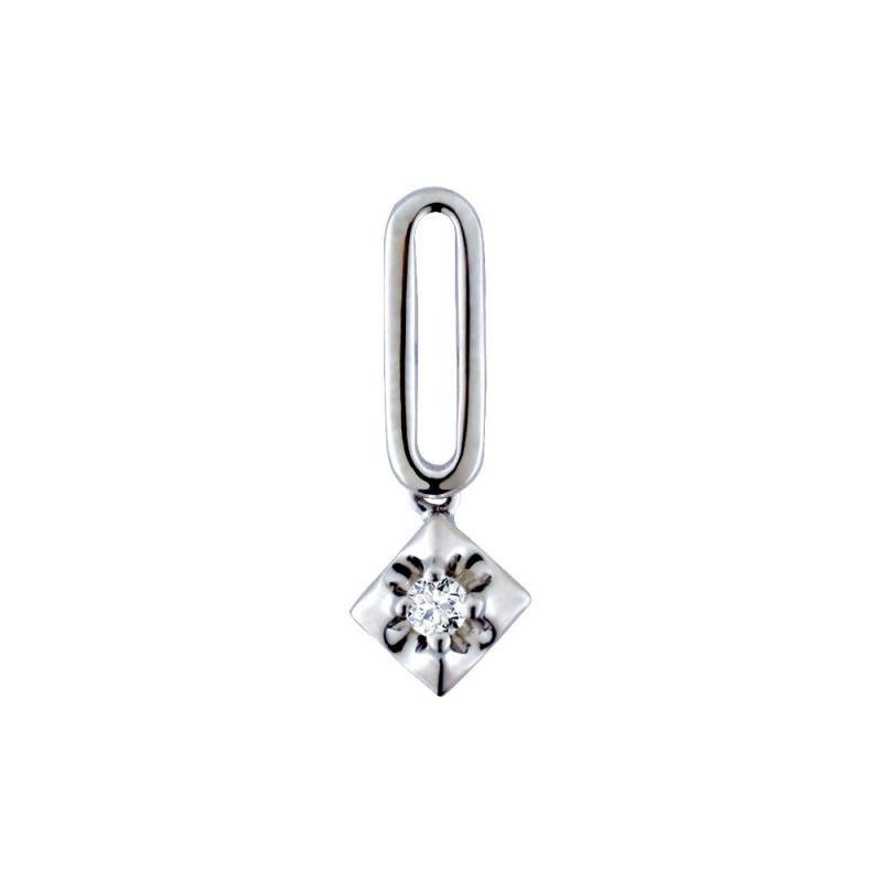 Μενταγιόν με διαμάντι σε λευκόχρυση βάση Κ18 - M718039