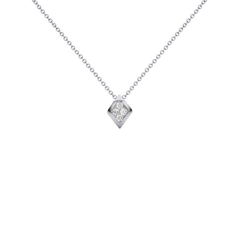 Μενταγιόν με διαμάντια σε λευκόχρυσο Κ18 - W123505