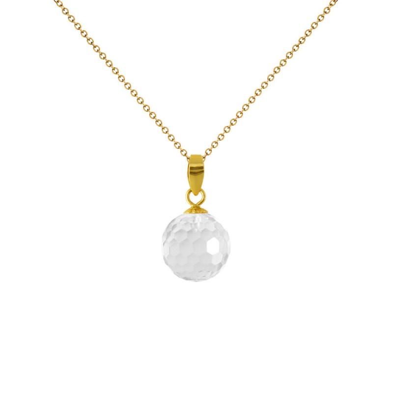 Μενταγιόν με Crystal σε χρυσή βάση Κ18 - Μ318456