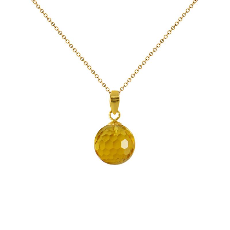 Μενταγιόν με Citrine σε χρυσή βάση Κ18 - M318456C