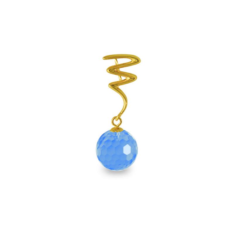 Χρυσό μενταγιόν με Blue Topaz - M318466BT