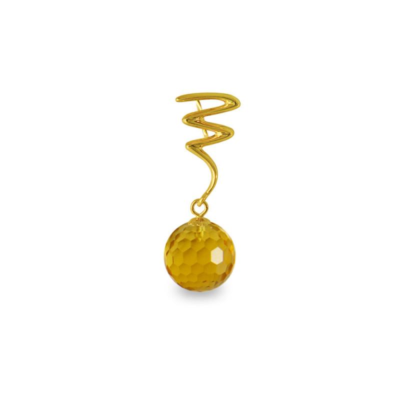 Χρυσό μενταγιόν με Citrine - M318466C