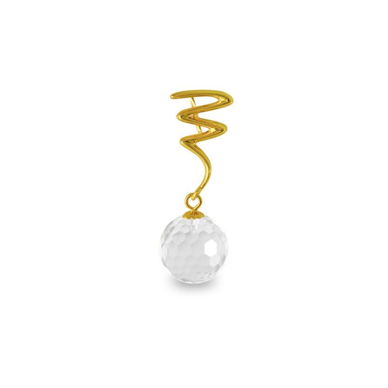 Χρυσό μενταγιόν με Crystal - M318466