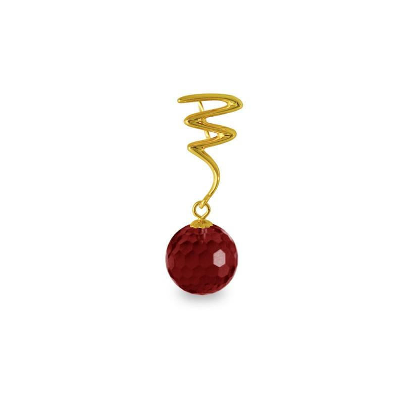 Χρυσό μενταγιόν με Garnet - M318466G