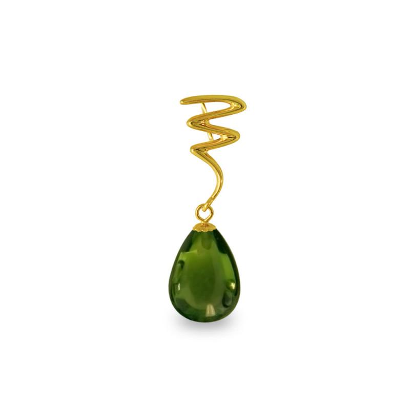 Χρυσό μενταγιόν με Peridot - M318490P