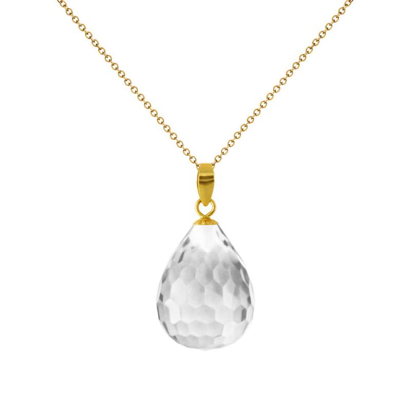 Χρυσό μενταγιόν με Crystal - M318491CR