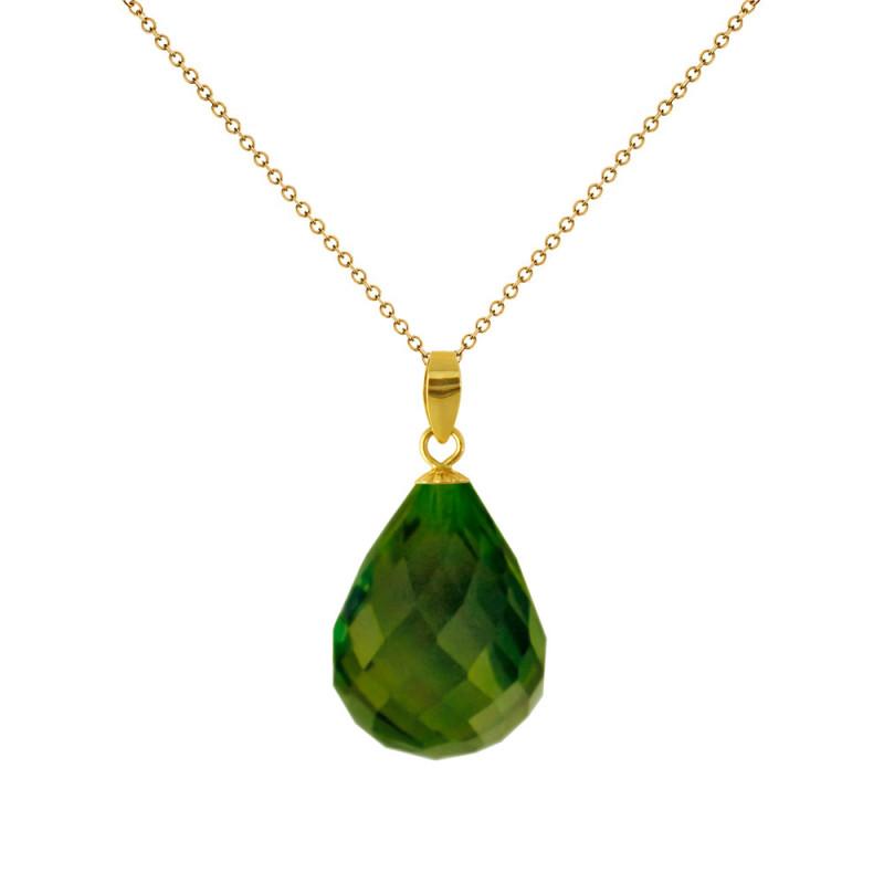 Χρυσό μενταγιόν με Peridot - M318491P