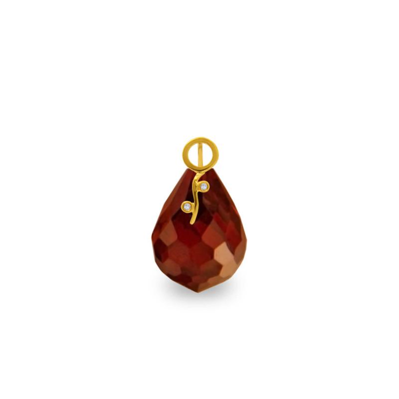 Χρυσό μενταγιόν με Garnet και διαμάντια - M318493G
