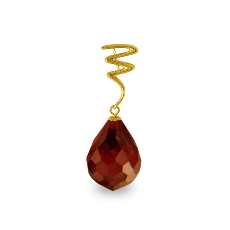 Χρυσό μενταγιόν με Garnet - M318502G