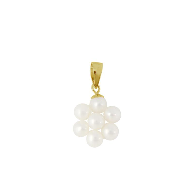 Μενταγιόν με λευκά μαργαριτάρια - G120299