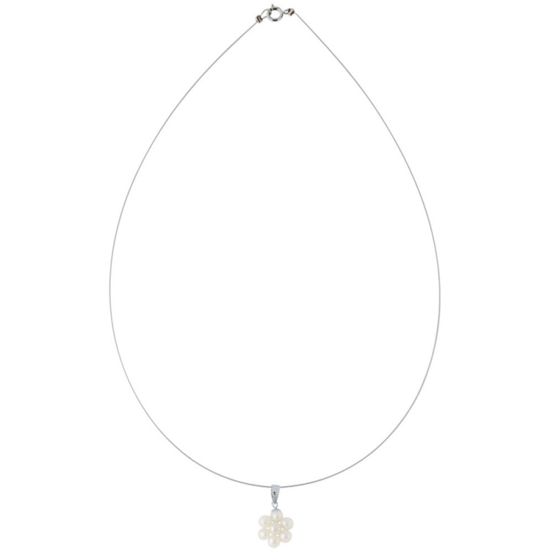 Μενταγιόν με λευκά μαργαριτάρια - M123782