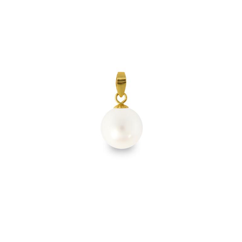Μενταγιόν με λευκό μαργαριτάρι - G318777
