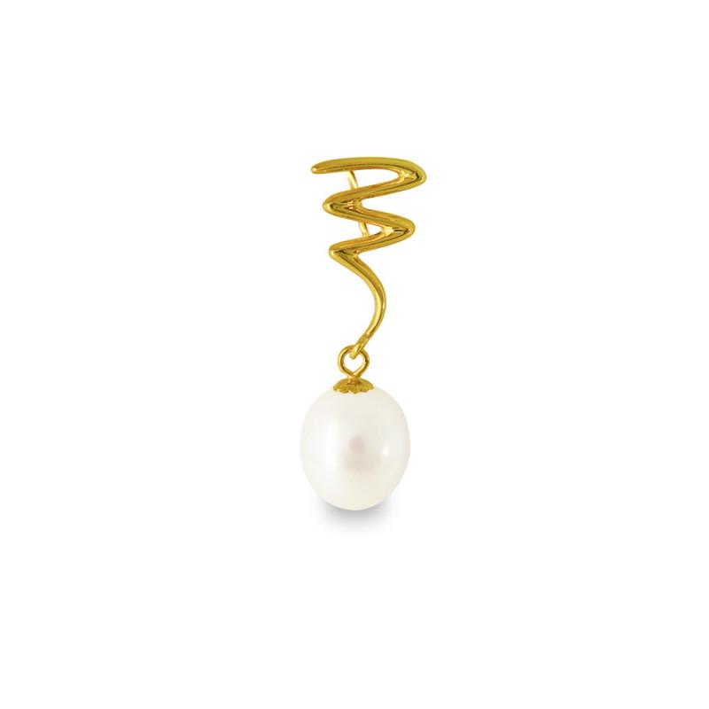 Μενταγιόν με λευκό μαργαριτάρι - G318895