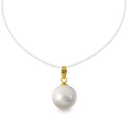 Χρυσό μενταγιόν με γκρι Shell Pearl - M316661G
