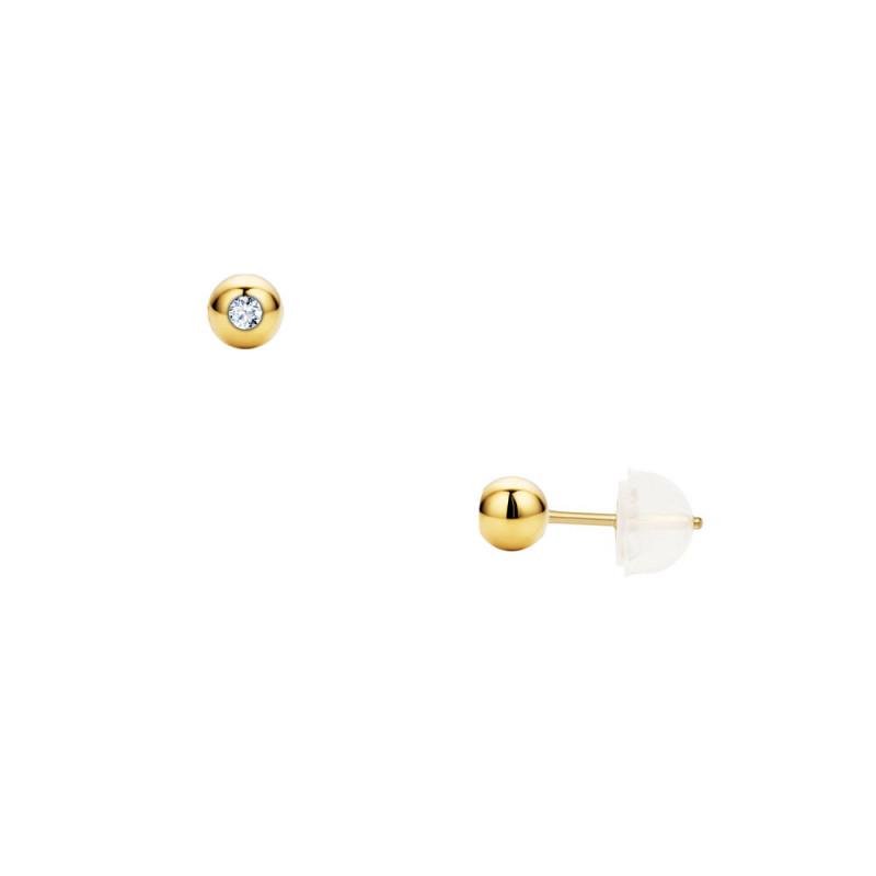 Σκουλαρίκια με διαμάντια σε χρυσή βάση Κ18 - G123454