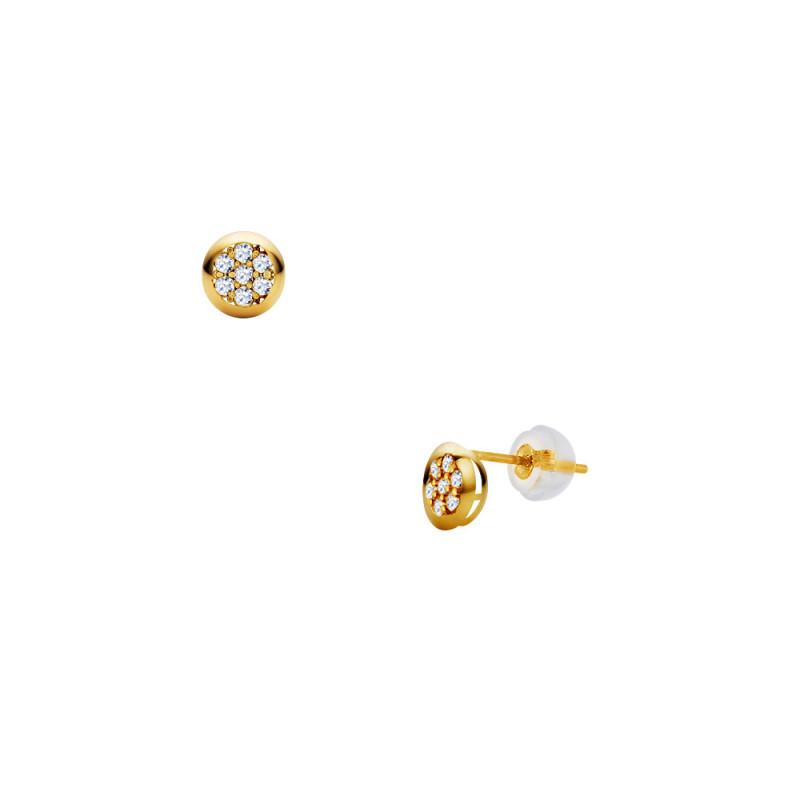 Σκουλαρίκια με διαμάντια σε χρυσή βάση Κ18 - G123456