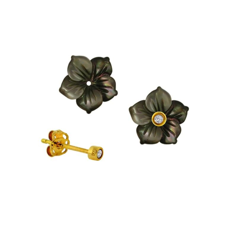 Σκουλαρίκια με διαμάντια σε χρυσή βάση Κ18 - G315059FB