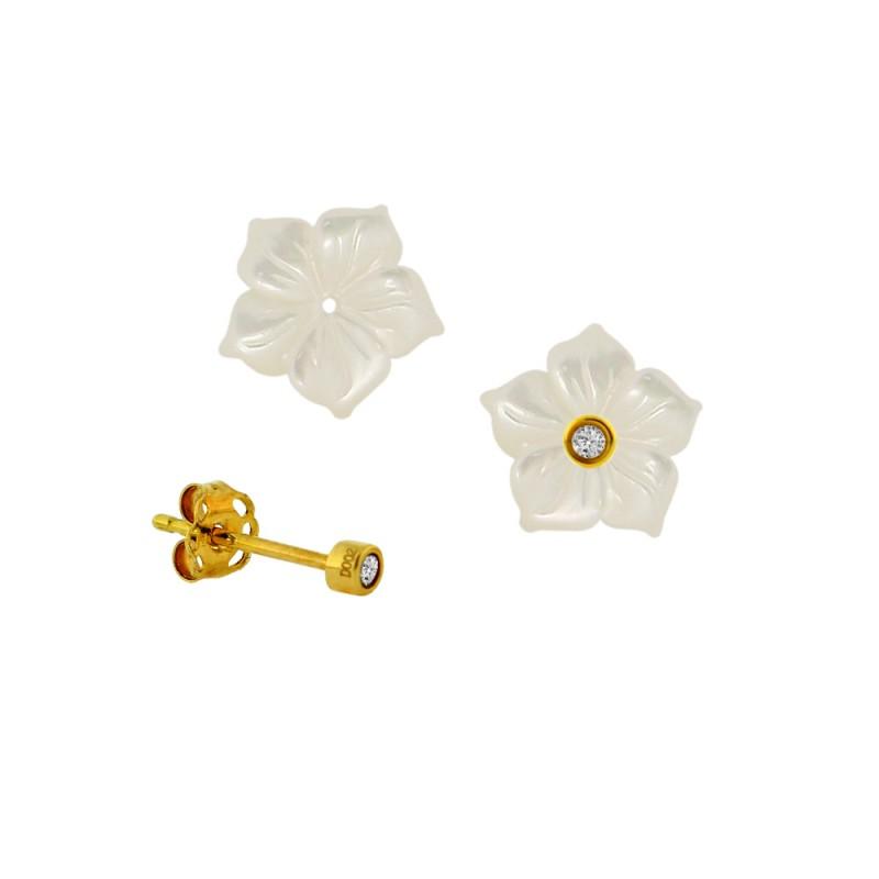 Σκουλαρίκια με διαμάντια σε χρυσή βάση Κ18 - G315059FW