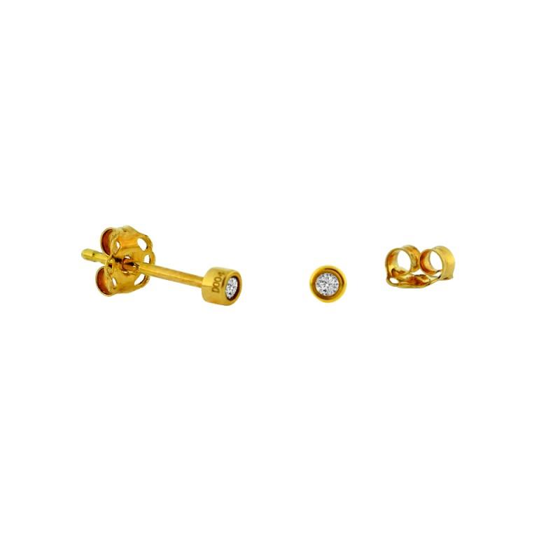 Σκουλαρίκια με διαμάντια σε χρυσή βάση Κ18 - G315060