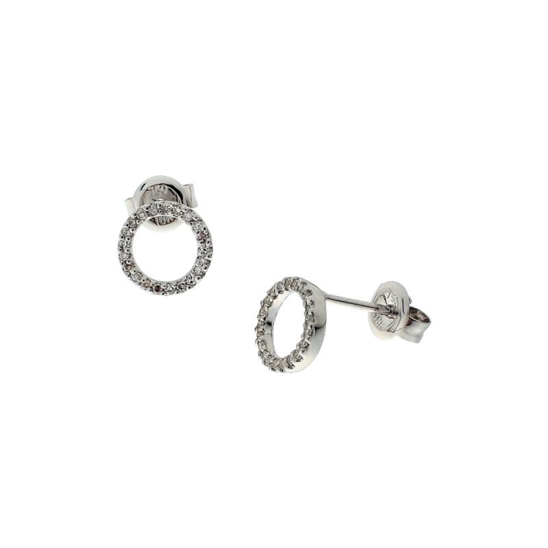 Σκουλαρίκια με διαμάντια σε λευκόχρυση βαση Κ18 - M114687