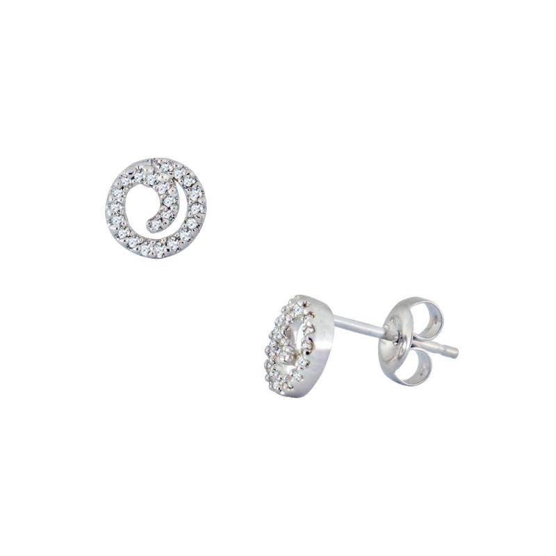 Σκουλαρίκια με διαμάντια σε λευκόχρυση βαση Κ18 - M114688
