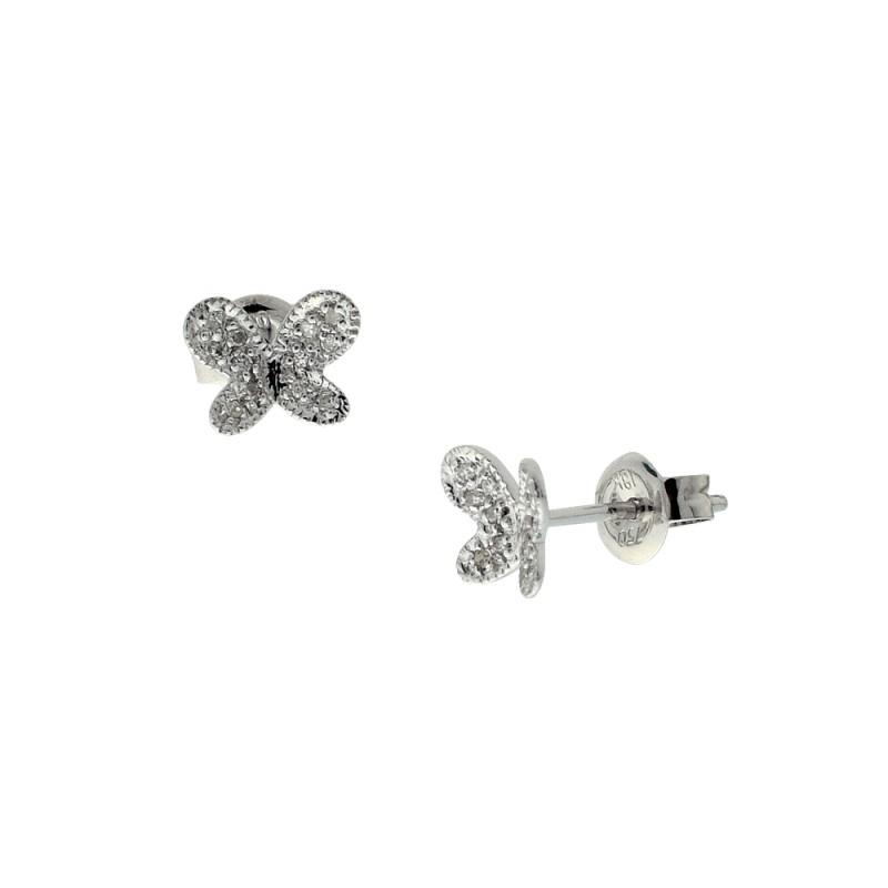 Σκουλαρίκια με διαμάντια σε λευκόχρυση βαση Κ18 - M114689