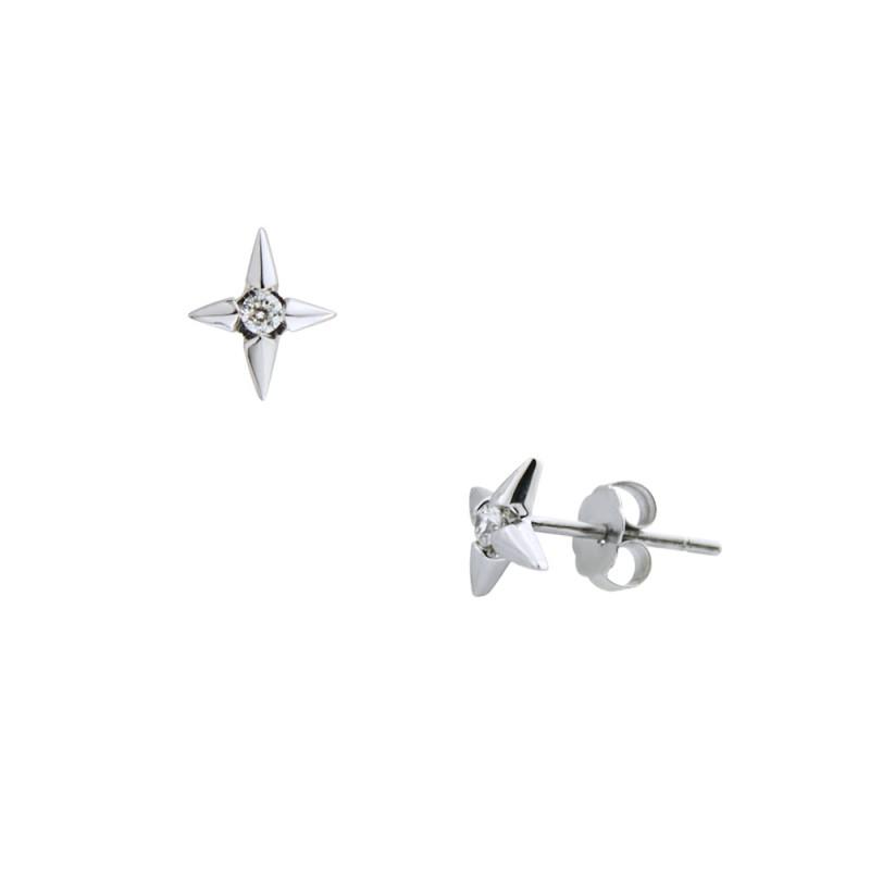 Σκουλαρίκια με διαμάντια σε λευκόχρυση βαση Κ18 - M418951