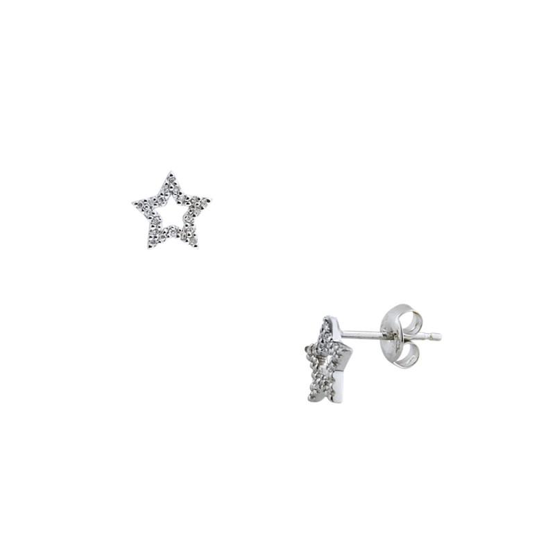 Σκουλαρίκια με διαμάντια σε λευκόχρυση βαση Κ18 - M418952