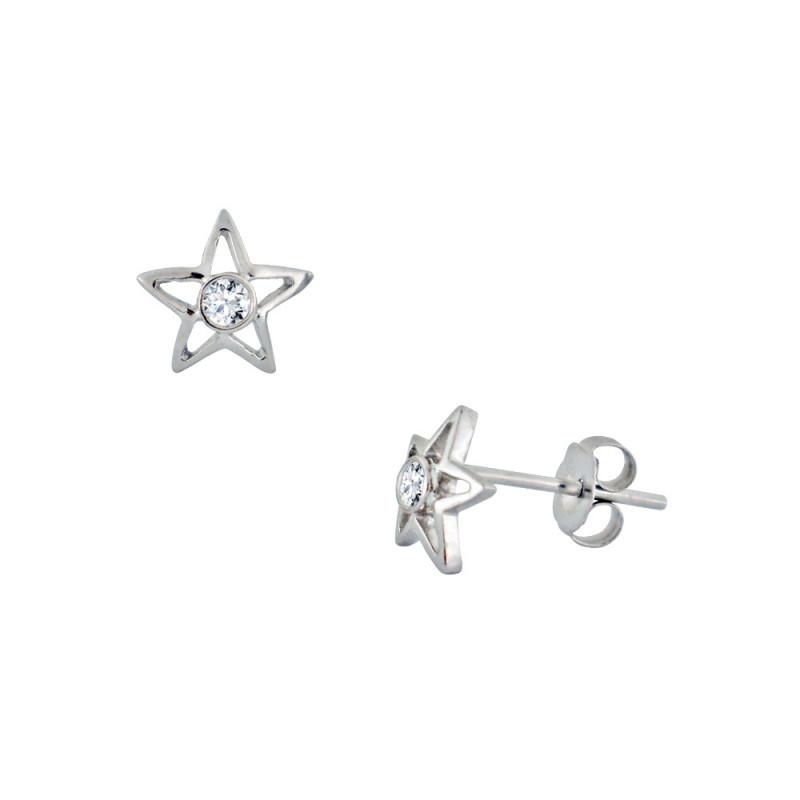 Σκουλαρίκια με διαμάντια σε λευκόχρυση βαση Κ18 - M762914