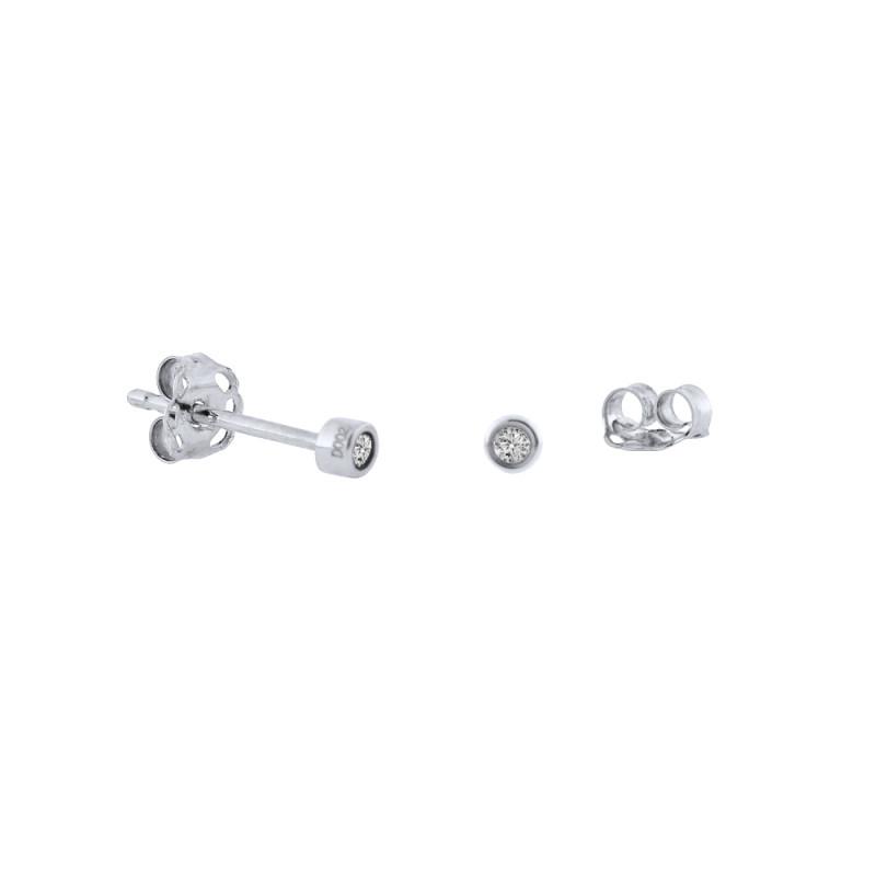 Σκουλαρίκια με διαμάντια σε λευκόχρυση βάση Κ18 - W315059