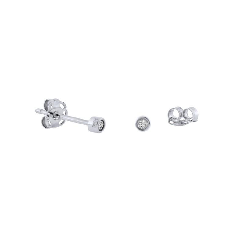 Σκουλαρίκια με διαμάντια σε λευκόχρυση βάση Κ18 - W315060