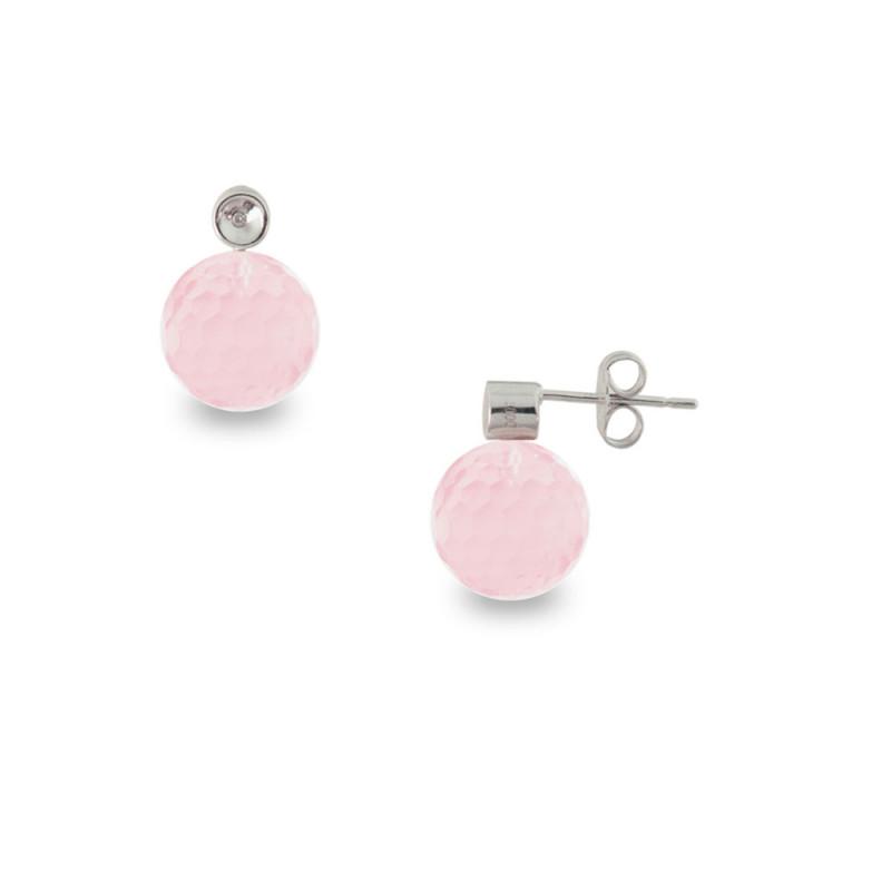 Σκουλαρίκια με Rose Quartz - S121458RQ