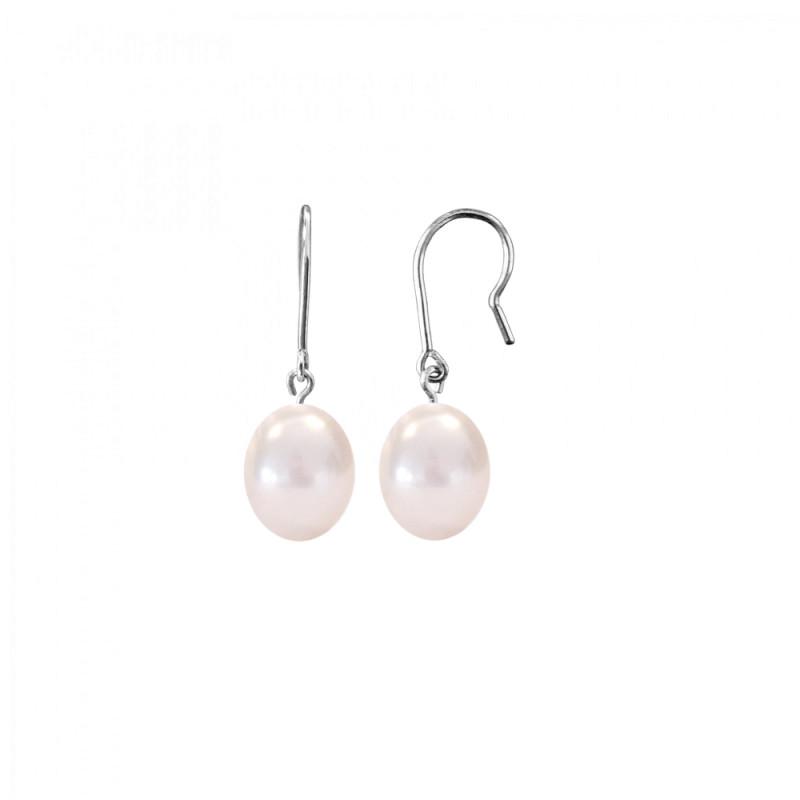 Σκουλαρίκια με λευκά μαργαριτάρια σε ασημένια βάση 925 - S123089