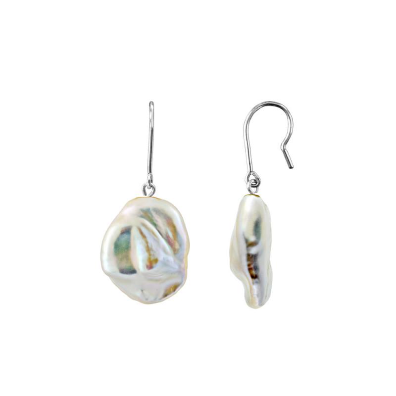 Σκουλαρίκια με μαργαριτάρια σε ασημένια βάση 925 - M123691