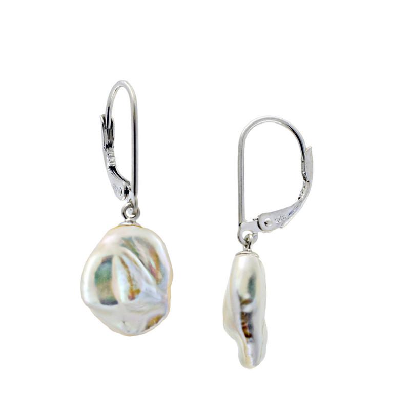 Σκουλαρίκια με μαργαριτάρια σε ασημένια βάση 925 - M123692