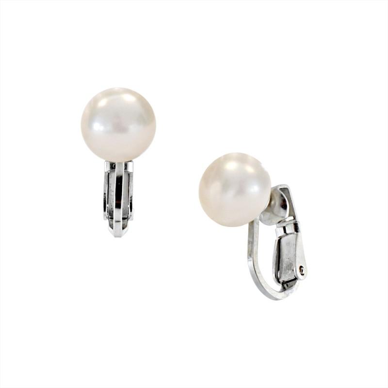 Σκουλαρίκια με λευκά μαργαριτάρια σε ασημένια βάση 925 - S122684