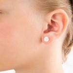 Σκουλαρίκια διπλής όψης με μαργαριτάρια σε ασημένια βάση 925 - S123073